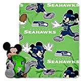 The Northwest Company Officially Licensed NFL Seattle Seahawks Co Disney's Mickey Mouse Hugger and Fleece Throw Blanket Set, Green, 40' x 50'