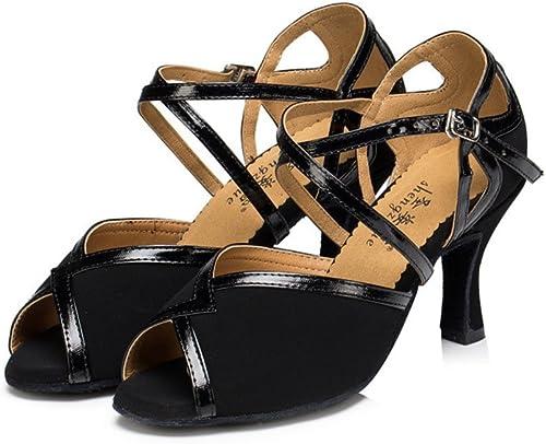 QWERTYUIOP Wohommes Wohommes Chaussures De Danse Latine,Fond Mou Chaussures De Danse High Heels Chaussures De Danse De Salon  économiser jusqu'à 50%