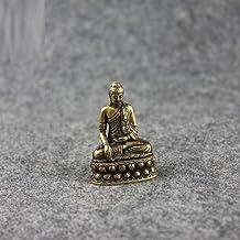 Statues Decorative Sculpture Statue Brass Buddha Shakyamuni Statue Small Portable Pocket Sitting Buddha Sculpture Home Decor