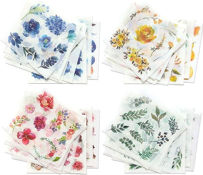 Bullet Journal 40 Pcs Winter Animals Washi Sticker Filofax Stickers Pine Tree Floral Sticker Flakes Scrap booking Penguin,Bear,Reindeer