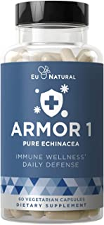 Sponsored Ad - Armor 1 Echinacea Pure 800 Mg – Healthy Immune System Function, Physical Wellness, Potent Strength for Seas...
