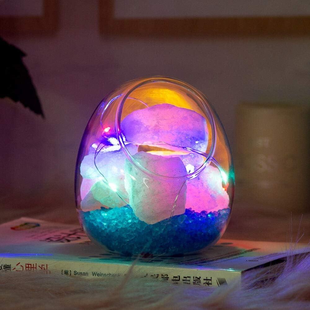 USB l Himalayan Crystal Salt Max 82% OFF Lamp Arlington Mall LED Purif Colorful Strings Air