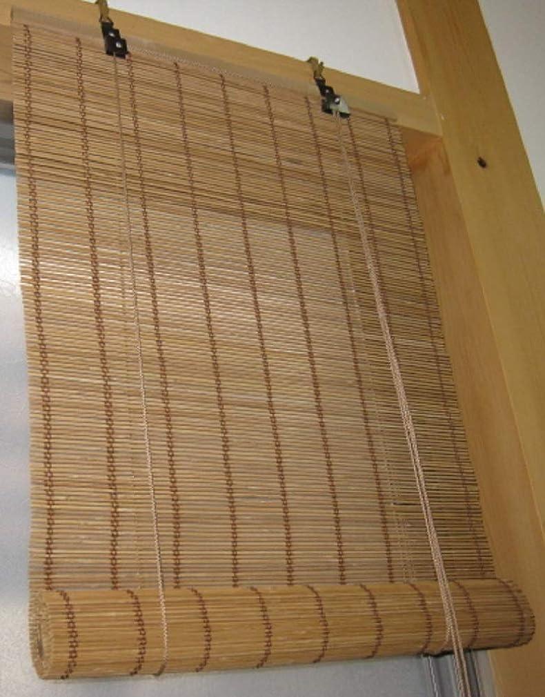 ミッション学習者忠実な竹ロールアップすだれ焼竹 小窓用 約幅45×高110cm