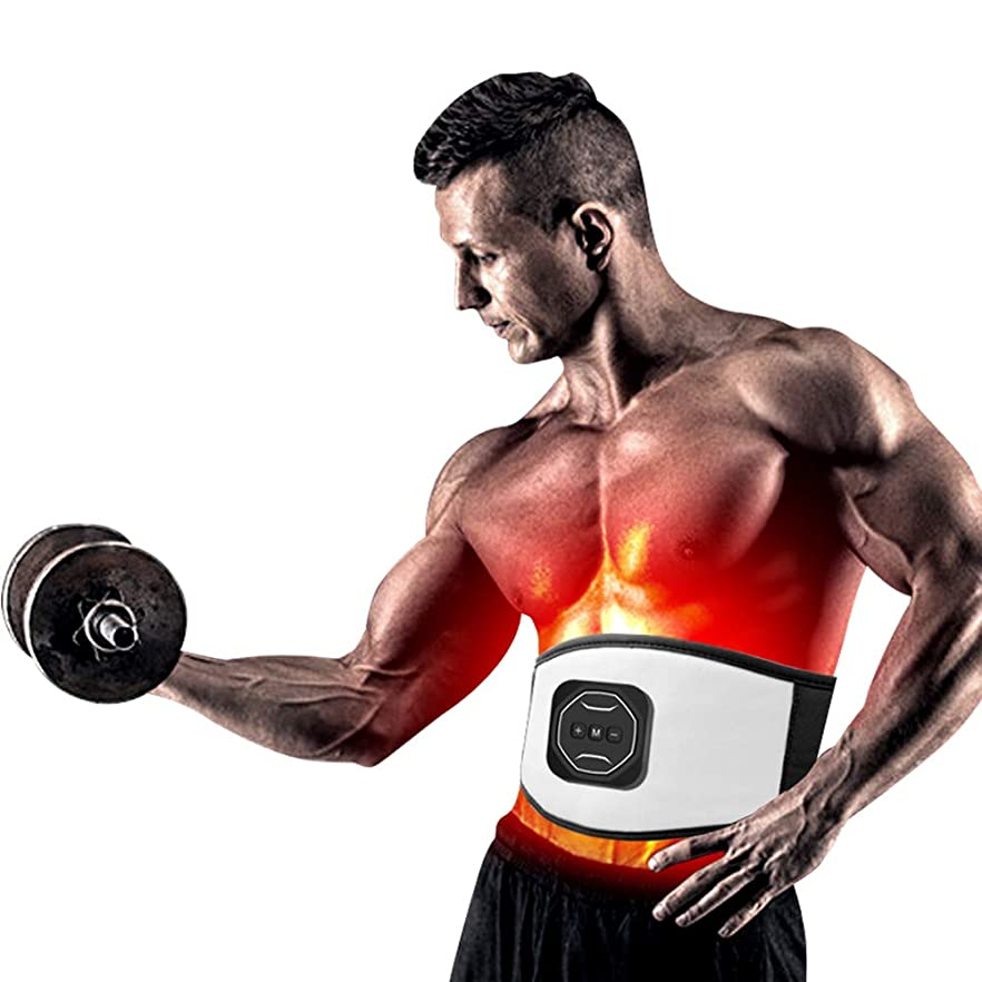 文化繊毛奪う腹筋トレーニング刺激装置ワイヤレスEMSベルトプロボディスリミングマッサージャーホームフィットネス