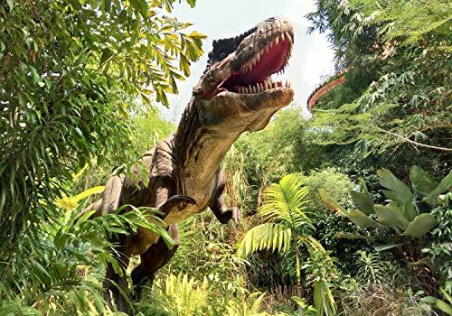 wandmotiv24 Fototapete T-Rex Dinosaurier Wald, L 300 x 210 cm - 6 Teile, Fototapeten, Wandbild, Motivtapeten, Vlies-Tapeten, Dino Wald Tyrannosaurus M6471