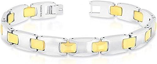 Zivom Tungsten Gold Bullet Mens Boys Bracelet For Men