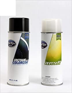 ColorRite Aerosol Automotive Touch-up Paint for Hyundai Santa Fe Sport - Frost White Pearl SWP - Color+Clearcoat Package