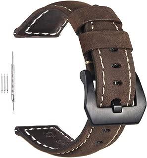 Paneraiパネライ代用ベルト20mm腕時計交換バンド デカ厚 40mmケースレザー替えベルト 汎用スマートウォッチベル
