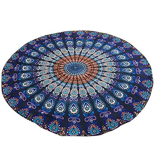 bodhi2000gasa redondo tapiz Hippy Boho Gypsy toalla de playa bufanda colgante de pared decoración, azul marino, talla única