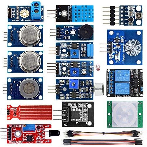 KOOKYE 16 in 1 Smart Home Sensor Modules Kit for Arduino (Smart Home Kit)