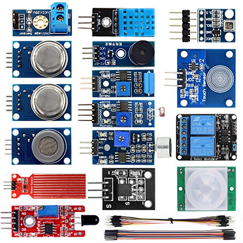 KOOKYE 16 in 1 Smart Home Sensor Modules Kit for Arduino (Smart Home Kit)