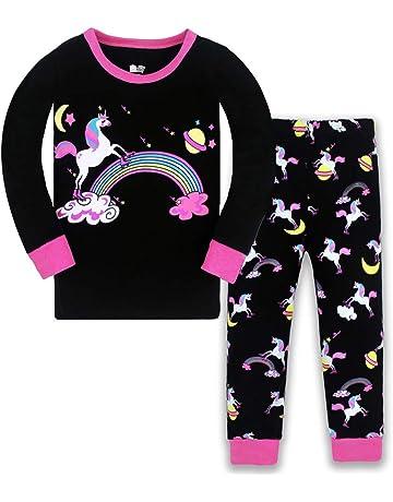 Ages 4 /& 6 Years NEW Girls Sleepy Bunny Long Pyjama Set Blue /& White