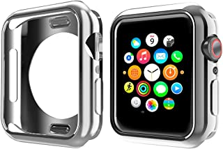 NN.ORANIE コンパチブル Apple Watch Series6/SE/ 5/4 ケース 44mm メッキ TPU ケース 耐衝撃性 超簿 脱着簡単 保護ケース アップルウォッチ カバー Apple Watch 6/SE/5/4に対応 ...