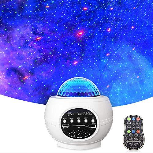 Proyector de Luz Estelar, LED de Luz Nocturna Giratorio Altavoz Bluetooth Incorporado, Proyector con 27 Modos de Galaxy, Altavoz Musical, para Dormitorio de bebé, Regalos, Salas de Juegos, Fiesta