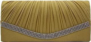 Wiwsi New Neat Pleated Handbag Satin Prom Bridal Clutch Purse Evening Handbags