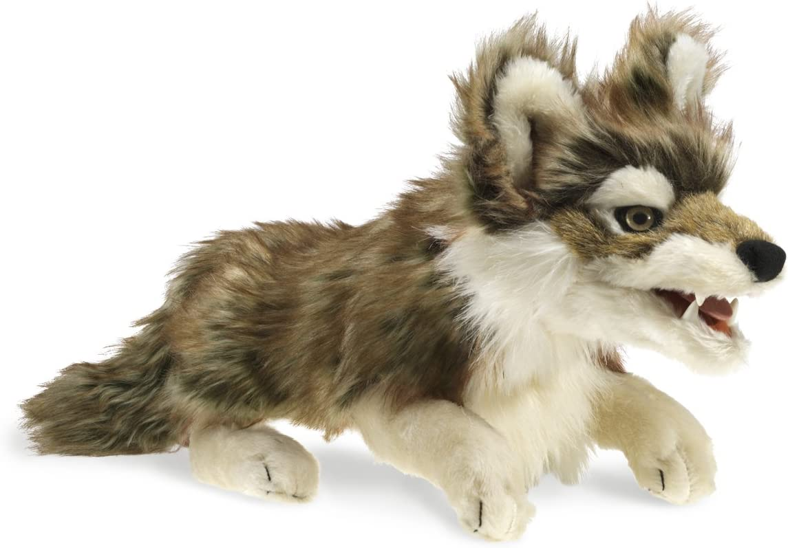 Folkmanis Gray Wolf Hand Many Today's only popular brands Puppet Black White EA 1