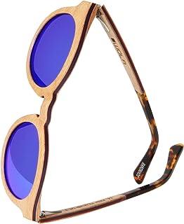 WOLA tondi occhiali da sole in legno SELVA donna i uomo legno, tondi sunglasses eyewear UV400 - polarizzati