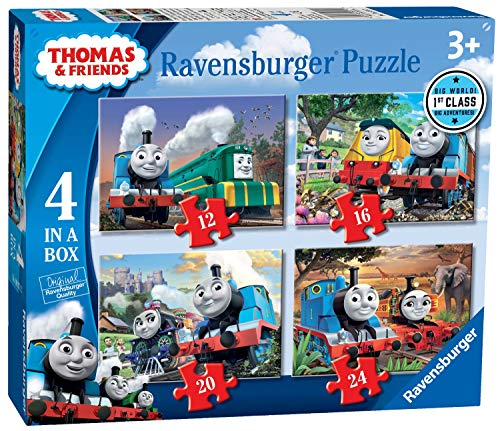 Ravensburger 6971 Thomas & Seine Freunde Thomas & Friends Big World Adventures 4 Puzzles in Einer Box (12, 16, 20, 24 Teile), Mehrfarbig