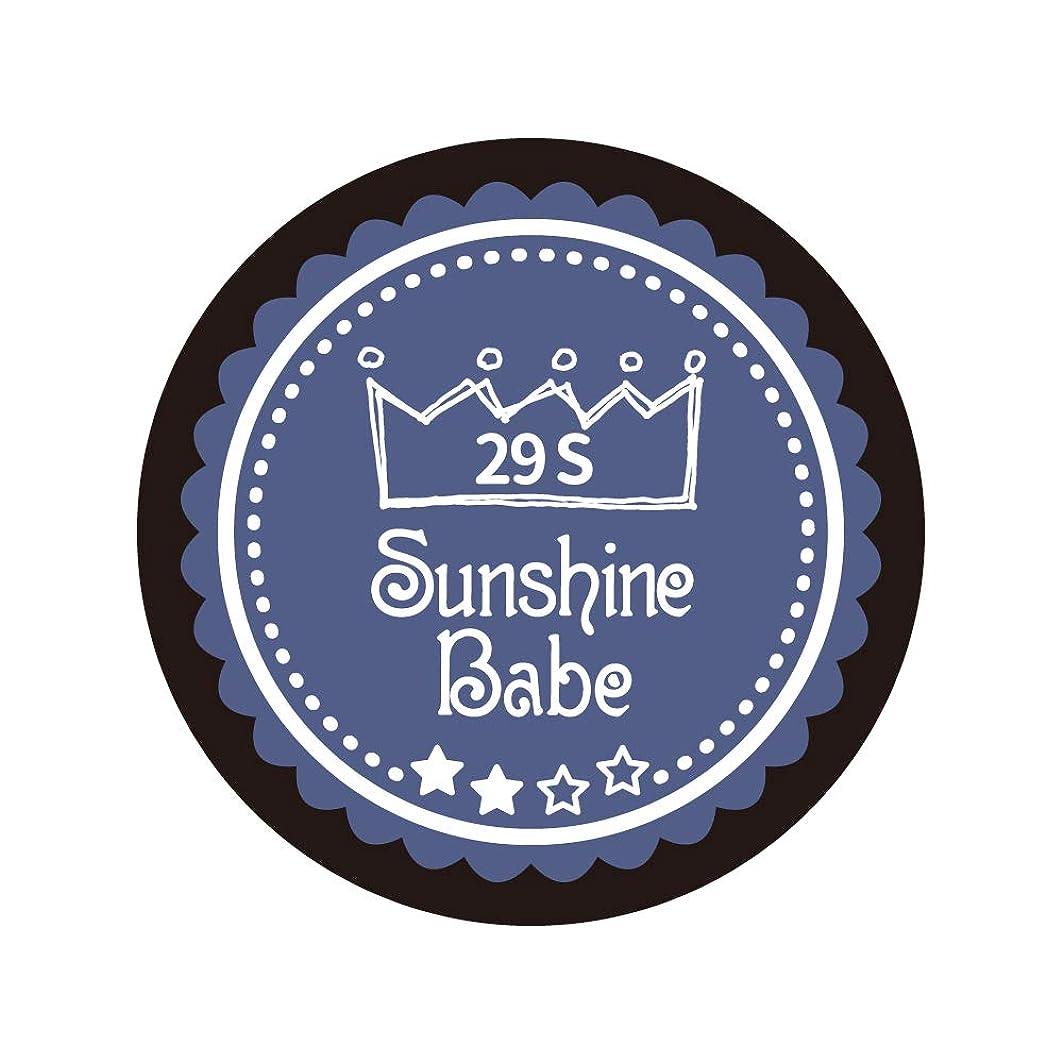 ガード円形空白Sunshine Babe カラージェル 29S ネイビーグレー 2.7g UV/LED対応