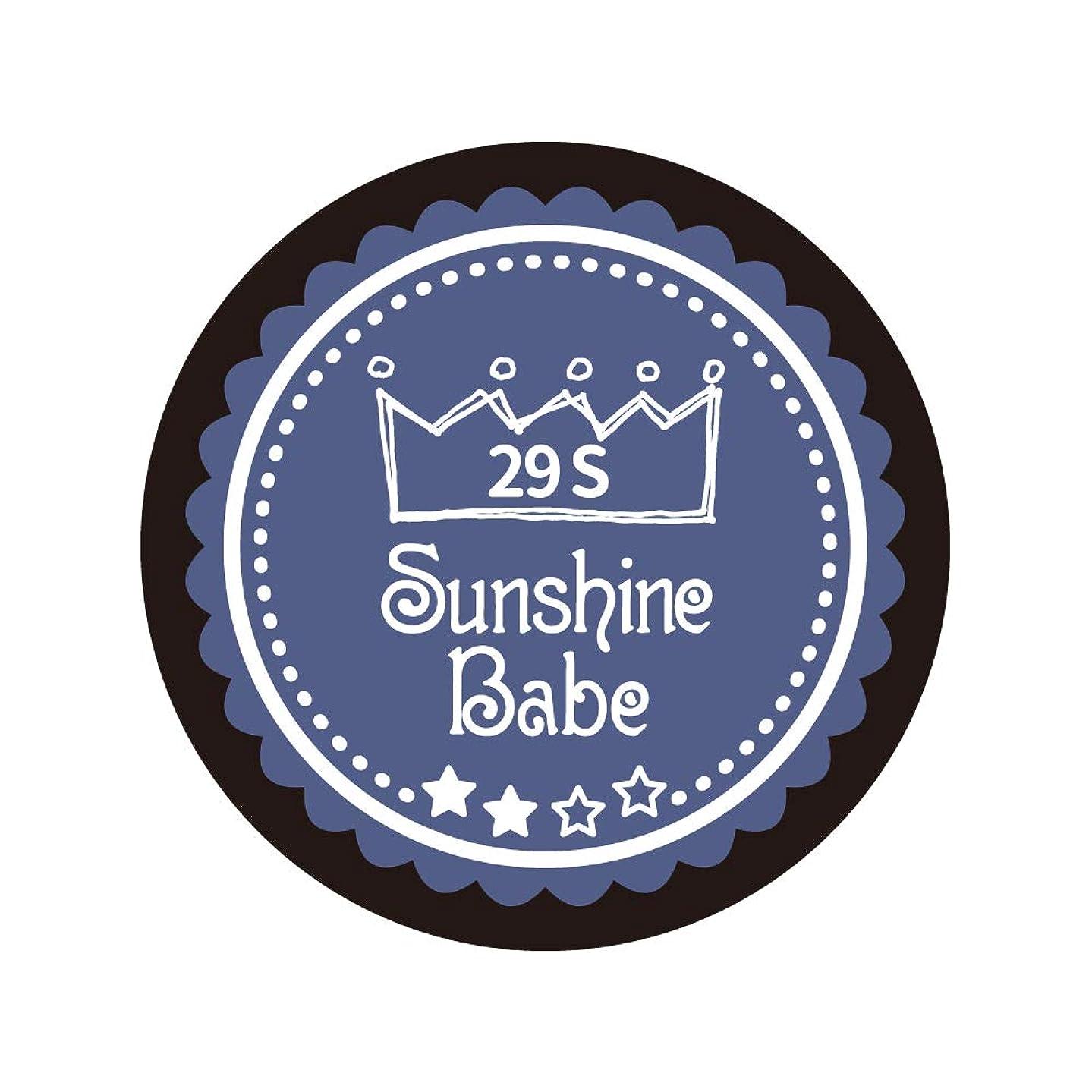 トラック運ぶ酸化物Sunshine Babe コスメティックカラー 29S ネイビーグレー 4g UV/LED対応