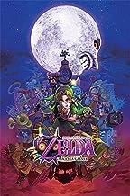 Nintendo Póster The Legend of Zelda/La Leyenda de Zelda Majora'S Mask/Máscara de Majora (61cm x 91,5cm) + 2 Marcos Negros para póster con suspención