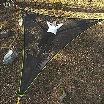 Lingfeng 2021 New Revolutionary Giant Aerial Camping Hammock for Outside ,Multi Person Portable Hammock 3 Point Tree House Air Sky Tent for Backpacking Travel Beach Backyard Patio Garden