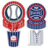 Baseball Party Supplies Set Including Plates, Cups, Napkins, Forks,Spoons,Knives, for Sports Birthday Party Decorations MLB Party Supplies,Serves 16 Guests
