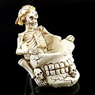 Skull Ashtray, Cigarette Smoking Ashtray Container Resin Creative Skeleton Collectable Tobacco Ashtray for Home Halloween ...