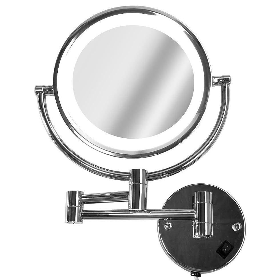 落胆する判読できない出血La Curie アームミラー 壁付けミラー 拡大鏡 折りたたみホテルミラー LEDライト付 5倍 LaCurie014