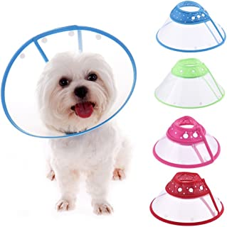 Yunt Recovery Pet Cone E-Collar for Dogs and Cats,with Breathable Soft Edge, Plastic Snap Closure