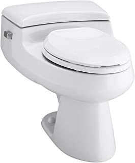 KOHLER K-3597-0 San Raphael Comfort Height Pressure IIte 1.0 GPF Elongated Toilet, White
