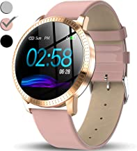 TURNMEON Women's Smart Watch, Waterproof Fitness Tracker, Color Touchscreen Fashion Smartwatch with Heart Rate, Blood Pressure, Sleep, Female Menstrual Record, Pedometer, Holiday Christmas Gifts