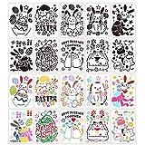 DOMIRE Huevos de Pascua, Decoraciones de Pascua, Pascua Plantillas de Dibujo plástico Plantillas de Pintura de la Plantilla Plantillas para la Pintura de DIY de Madera Pared de la Muestra 10 Piezas