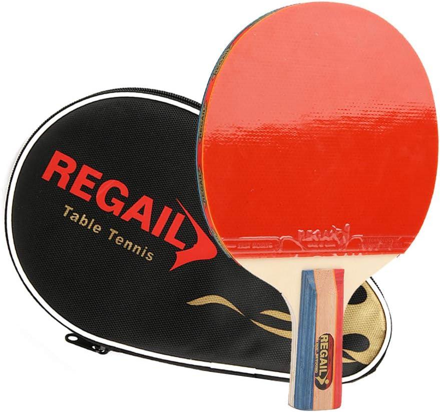 Palas Ping Pong Tablero De Madera De Siete Capas Paleta De Tenis De Mesa Esponja Azul Goma Pro Carbon Practice Bat Equipo Deportivo con Bolsa De Almacenamiento