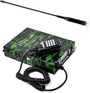 HYS 25Watt Dual Band VHF/UHF 136-174/400-480MHz FM transceiver and Amateur Radio Built-in 12000mAh Battery with Soft Telescopic Car Antenna