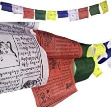 "Prayer Flags 5.5"" X6.5 Inch Size Buddhist Wind Horse Cotton Hand Printed Buddhist"