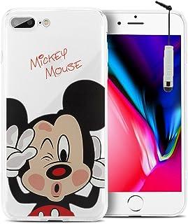 2162de8015e Funda transparente ShopInSmart®, de silicona TPU, con diseño de dibujos  animados Disney para