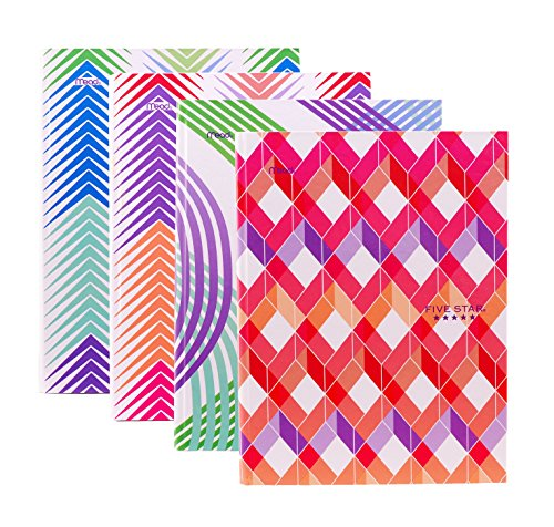 """Set of 4 HARDCOVER Composition Notebooks by MEAD - College Ruled, 100 sheets, 9 3/4"""" x 7 1/2"""", Assorted Designs"""