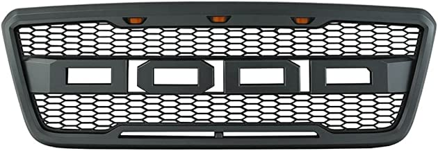 Packaged Grille Compatible With 2004-2008 Ford F-150 Models   New Raptor Style Charcoal Gray ABS Front Bumper Grille Hood Mesh Guard by IKON MOTORSPORTS   2005 2006 2007