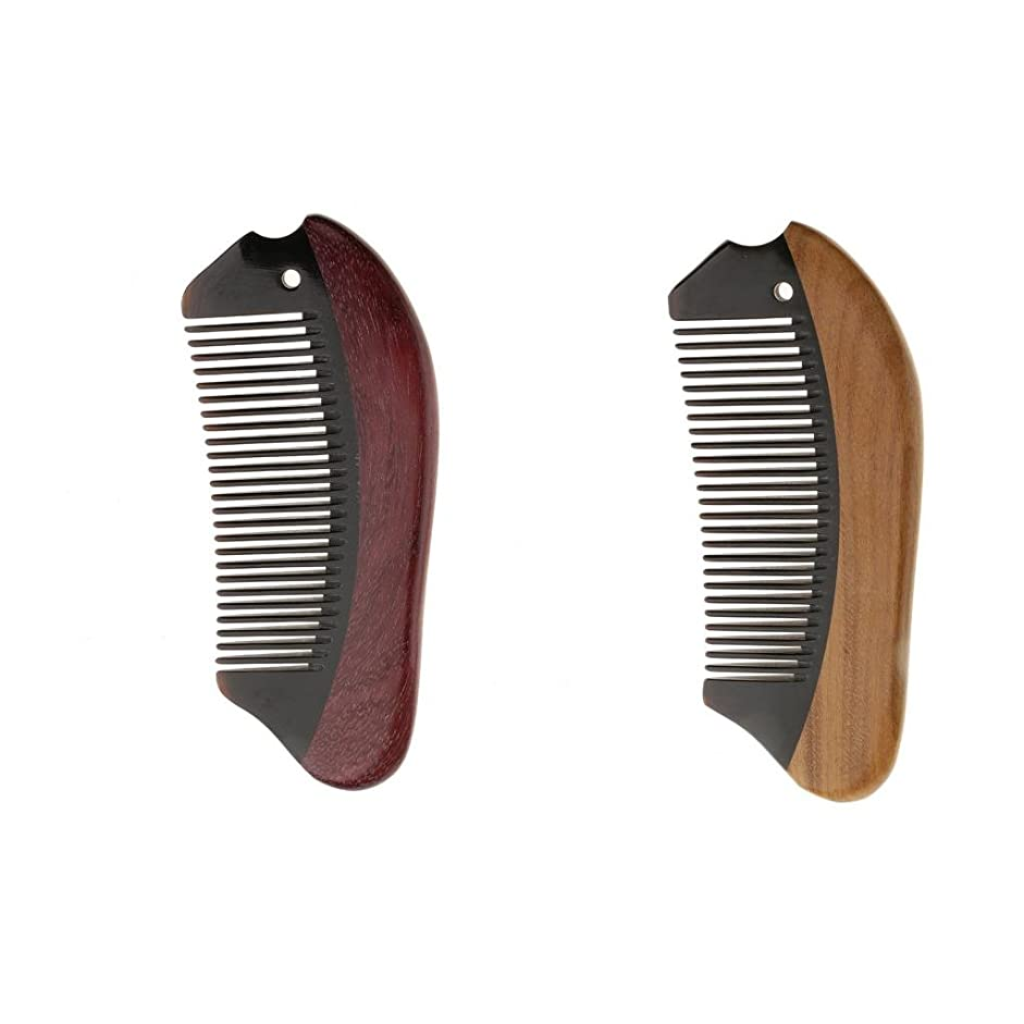 スキャンダル微妙バルーンHomyl 2個 木製 櫛 コーム 静電気防止 マッサージ 高品質 プレゼント 滑らか 快適