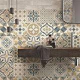 Adhesivos para azulejos de baño y cocina, 24 unidades, 10 x 10 cm, fabricados en Italia, 24...