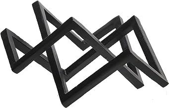 Sagebrook Home 15269-01 معدن 15 بوصة ديكور هندسي، أسود
