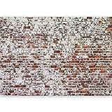 murando Fototapete selbstklebend 490x280 cm Tapete Wandtapete Klebefolie Dekorfolie Tapetenfolie Wand Dekoration Wandaufkleber Wohnzimmer Ziegel Mauer mehrfarbig Ziegelstein Steine f-A-0452-a-a
