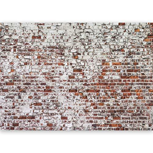murando - Fototapete XXL Ziegelmauer 500x280 cm Vlies Tapeten Wandtapete XXL Moderne Wanddeko Design Wand Dekoration Wohnzimmer Schlafzimmer Büro Flu Ziegelstein Mauer f-A-0452-a-a