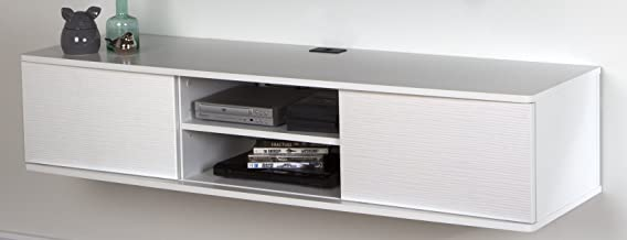 South Shore Floating Wall Mounted Media Console, Pure White, 56