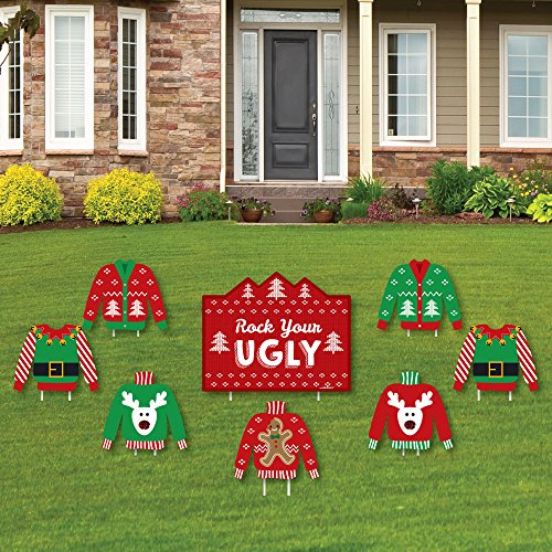 Ugly Sweater - Yard Sign & Outdoor Lawn Decorations - Holiday & Christmas Yard Signs - Set of 8