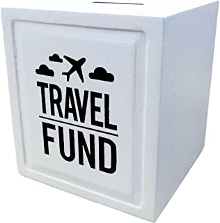 Sterling James Co. Travel Fund Piggy Bank - Wedding and Travel Gift Ideas - Money Box - House Warming and Retirement Gifts for Travelers