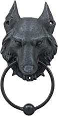 Pacific Giftware 8.5 Inch Evil Wolf Gargoyle Resin Door Knocker Statue Figurine