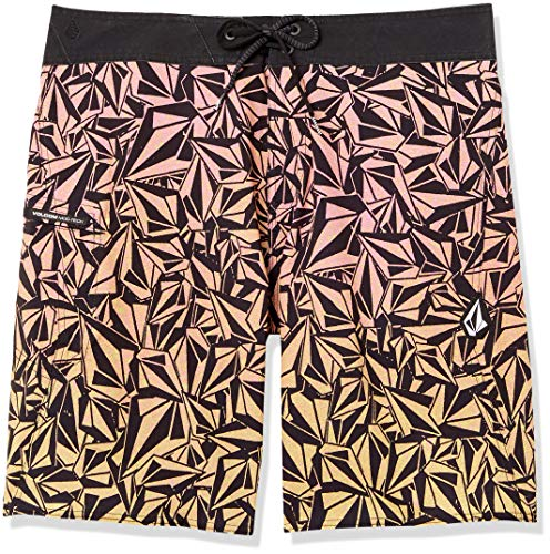 Volcom Men's Confetti Stone Print 20' Boardshort, Glitch Purple, 30