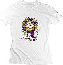 EnHui Women Whitney Houston Poster Organic Cotton Shirt